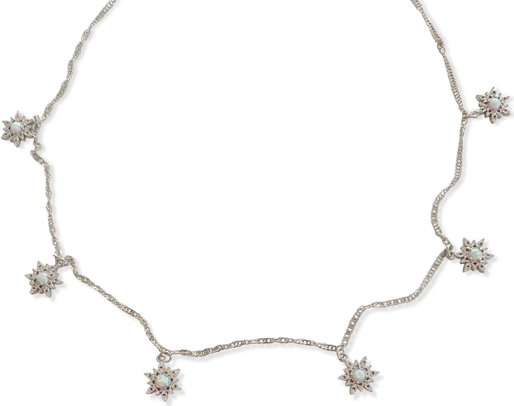Opal Elsa Necklace - Silver