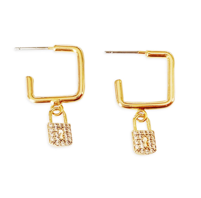 Gold Pavé Lexi Earrings