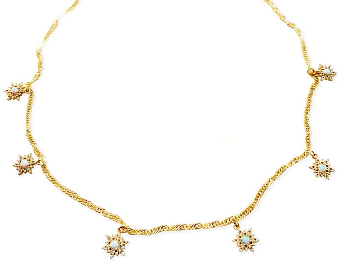 Opal Elsa Necklace - Gold