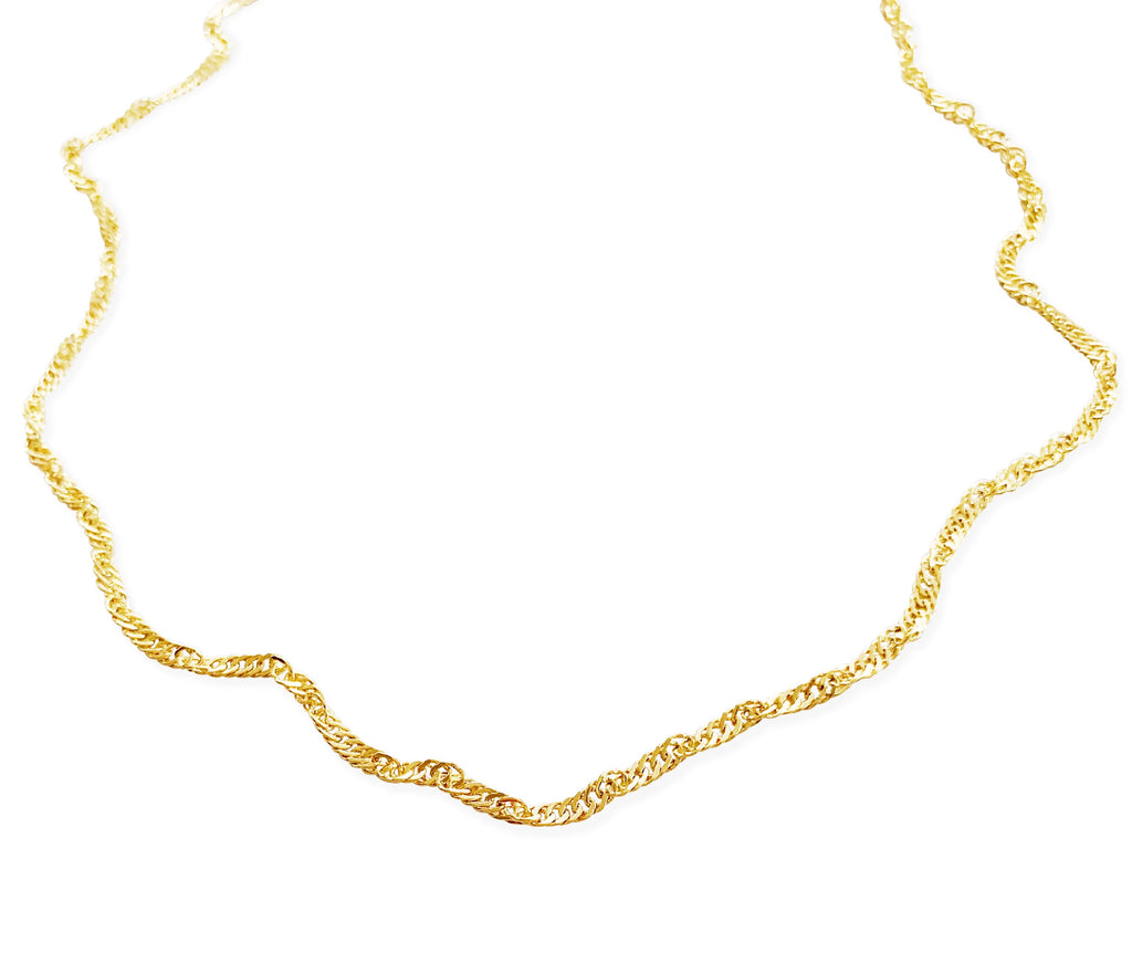 Simple Twist Chain - Gold