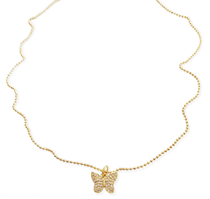 Pavé 90's Butterfly Necklace