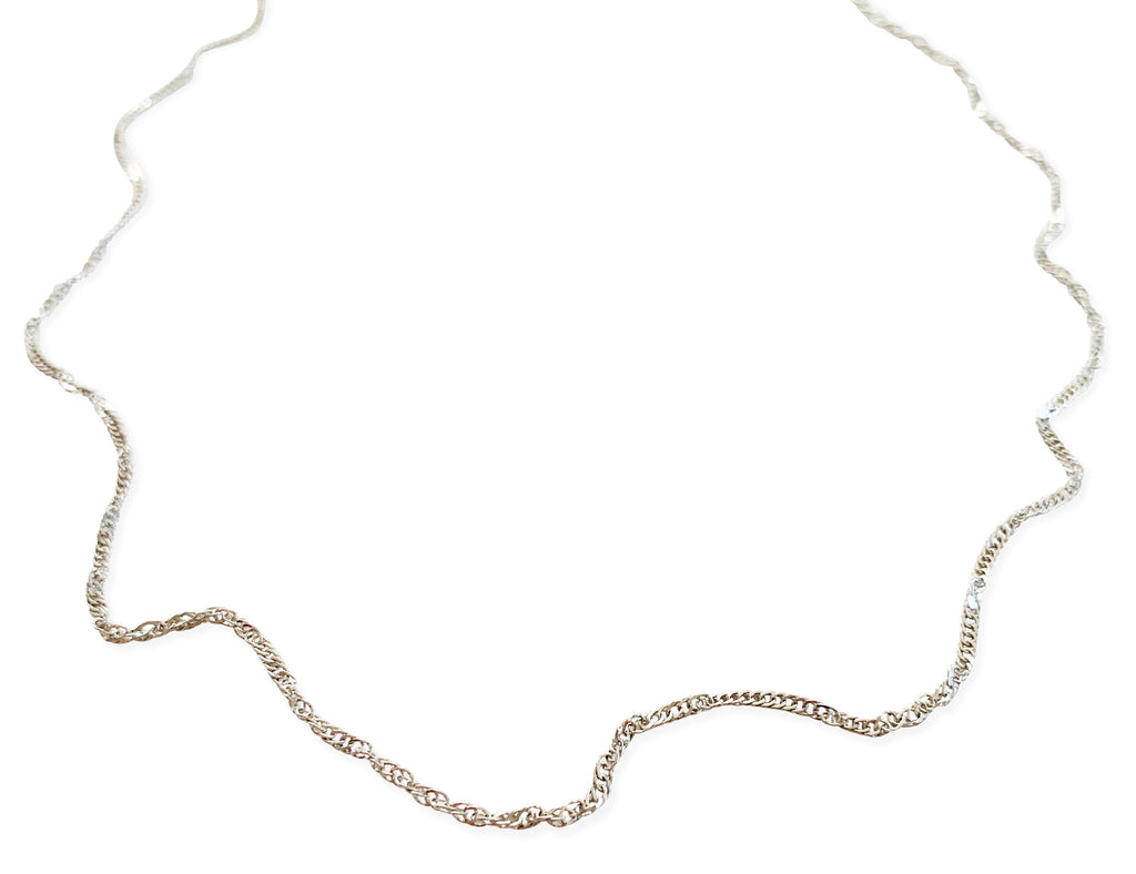 Simple Twist Chain - Silver