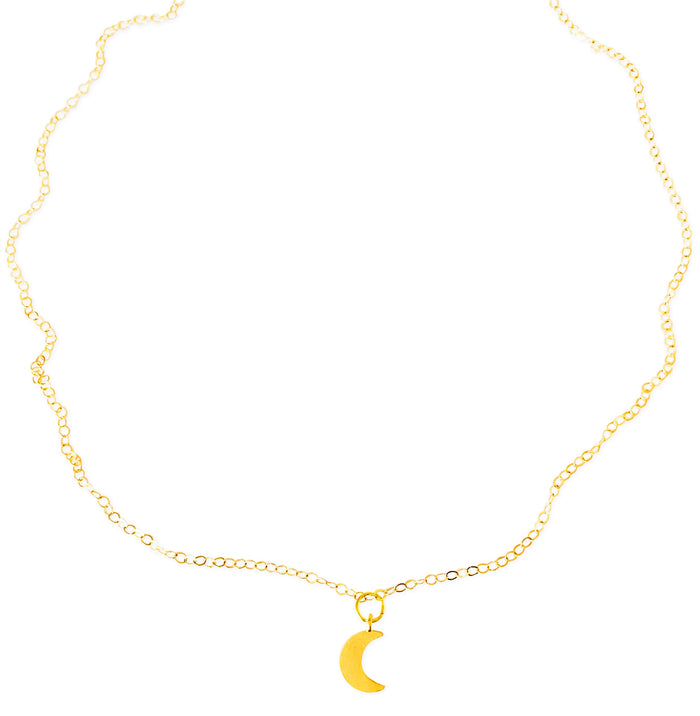 Simple Crescent Necklace - Gold