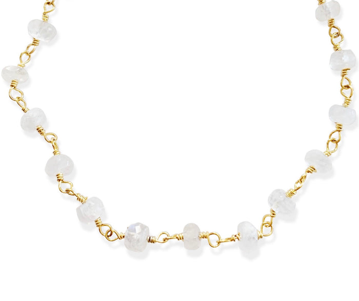 All Moonstone Anklet