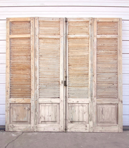 Set of Antique Bi-Folding Shutters