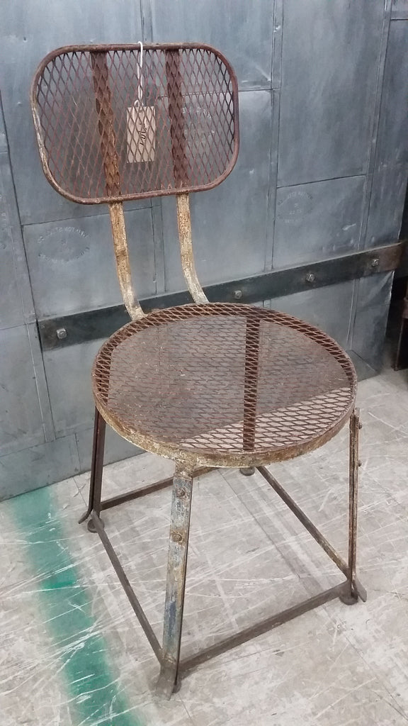 Pair of Steel Chairs with Mesh Seat and Back