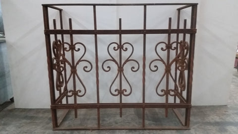 Architectural Iron Balcony Railing / Console Table Base