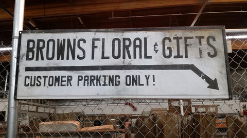 """Browns Floral Gifts Customer Parking Only"" Sign"