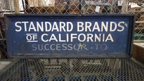 Standard Brands of California Sign