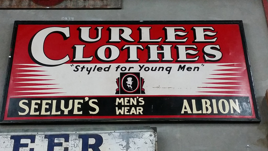 Curlee Clothes Styled for Young Men, Seelye's Menswear Albion Sign