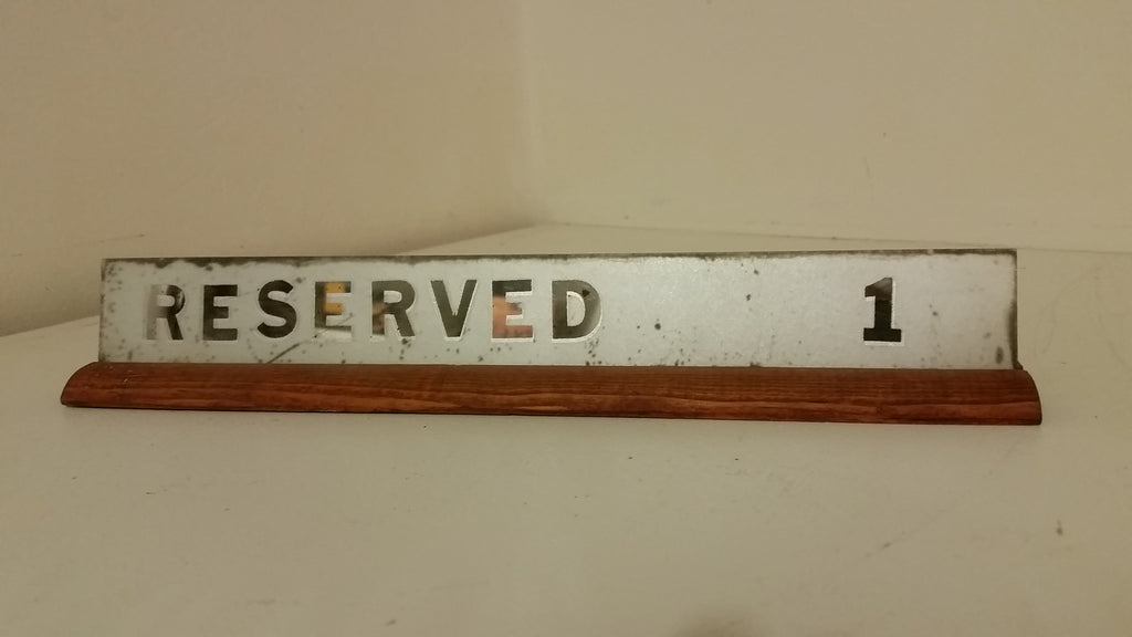 Set of Reserved Signs (Restaurant)