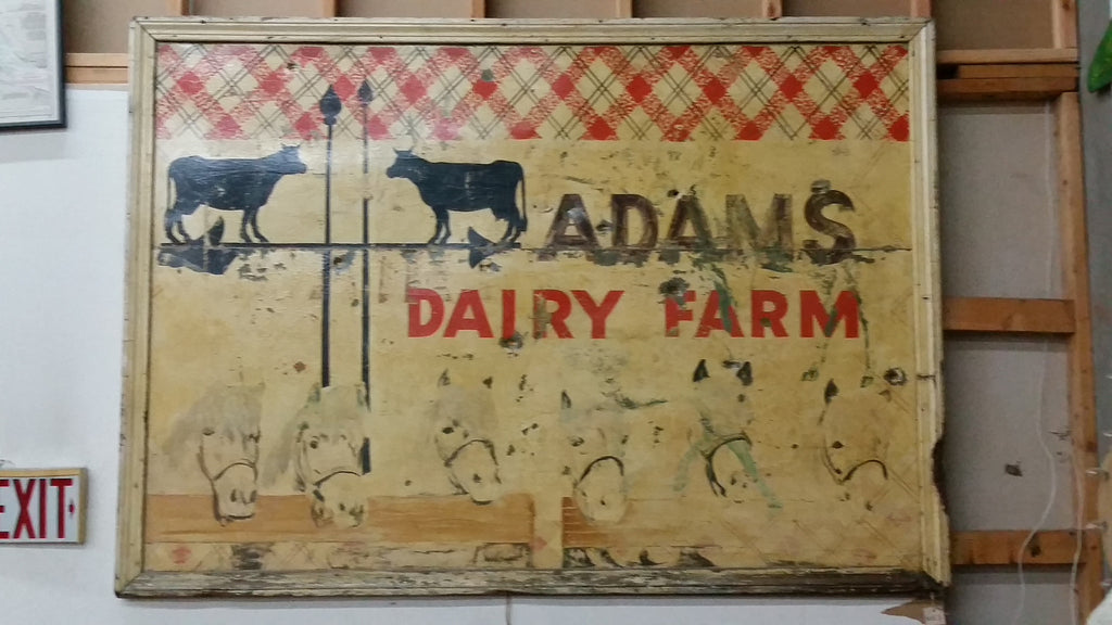"Framed Sign ""Adams Dairy"" (Restaurant)"