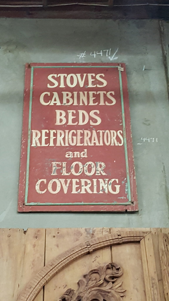 Stoves, Cabinets, Beds Sign