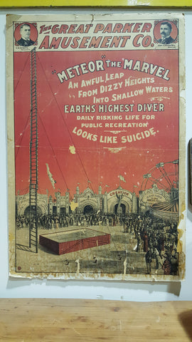 "Carnival Poster, ""The Great Parker Amusement Co."""