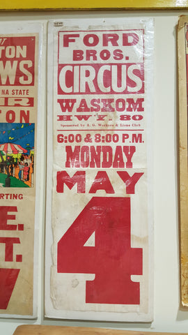 "Circus Poster, ""Ford Bros. Waskom Hwy 80"""