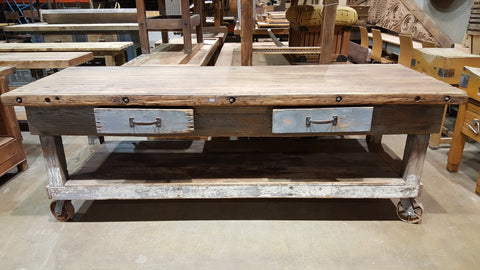 2 Drawer Rolling Island Work Bench