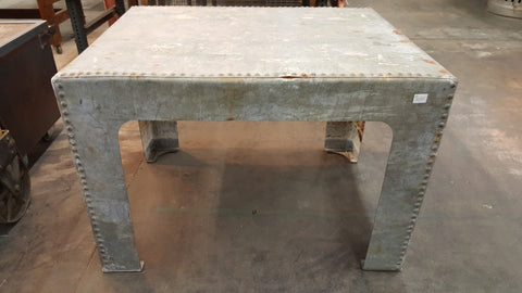 Indutrial Dining Table with Riveted Seams