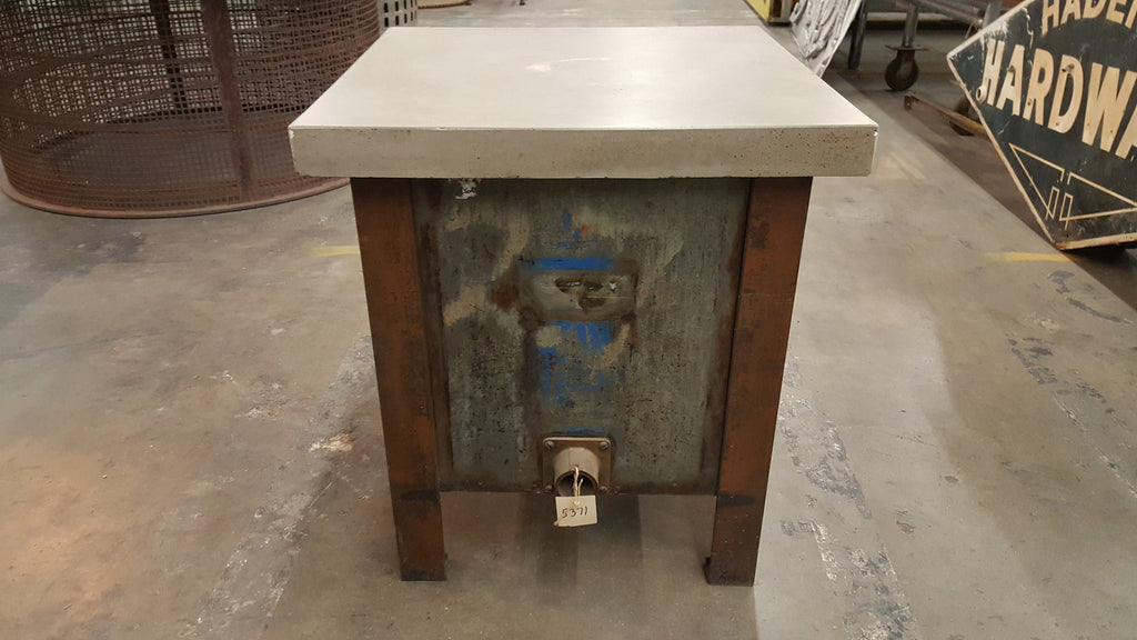 Industrial Side Table with Concrete Top
