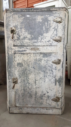 "Antique ""Crystal"" Refrigerator Cabinet"