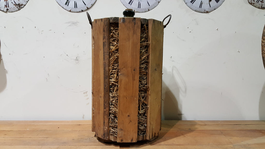 Wine Bottle in Wood Crate
