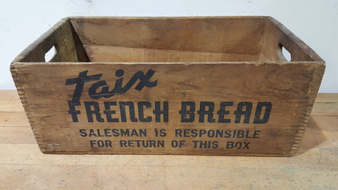 """Taix"" Salesman's French Bread Crate"