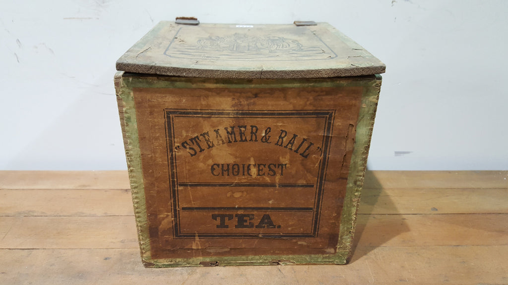 Wooden Steamer & Rail Tea Caddy/Box