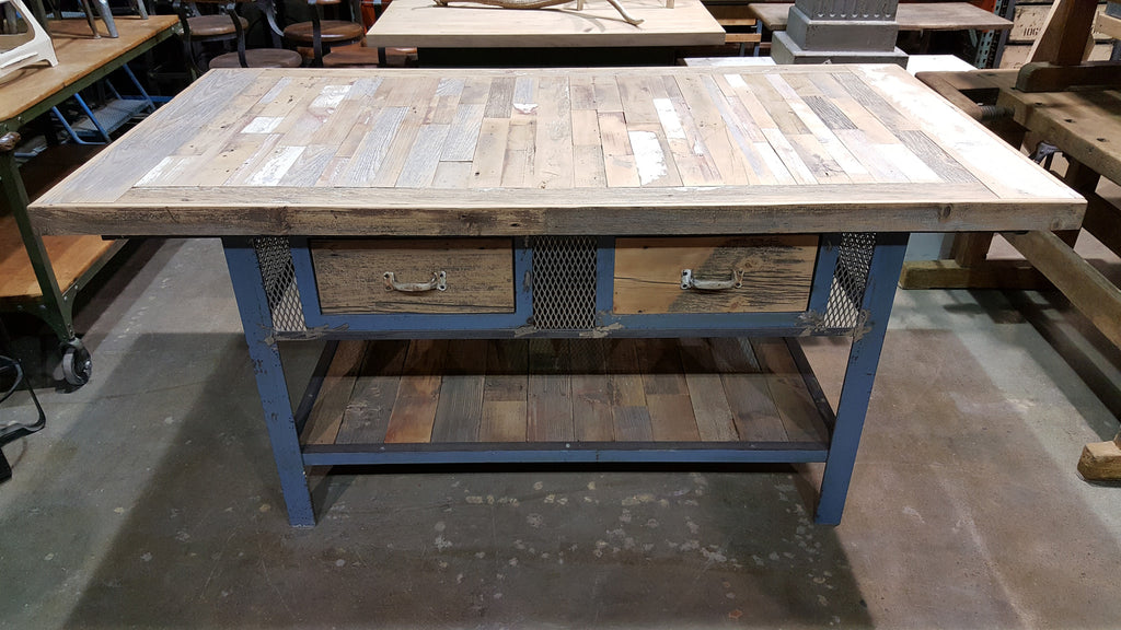 Industrial Kitchen Island Retail Display