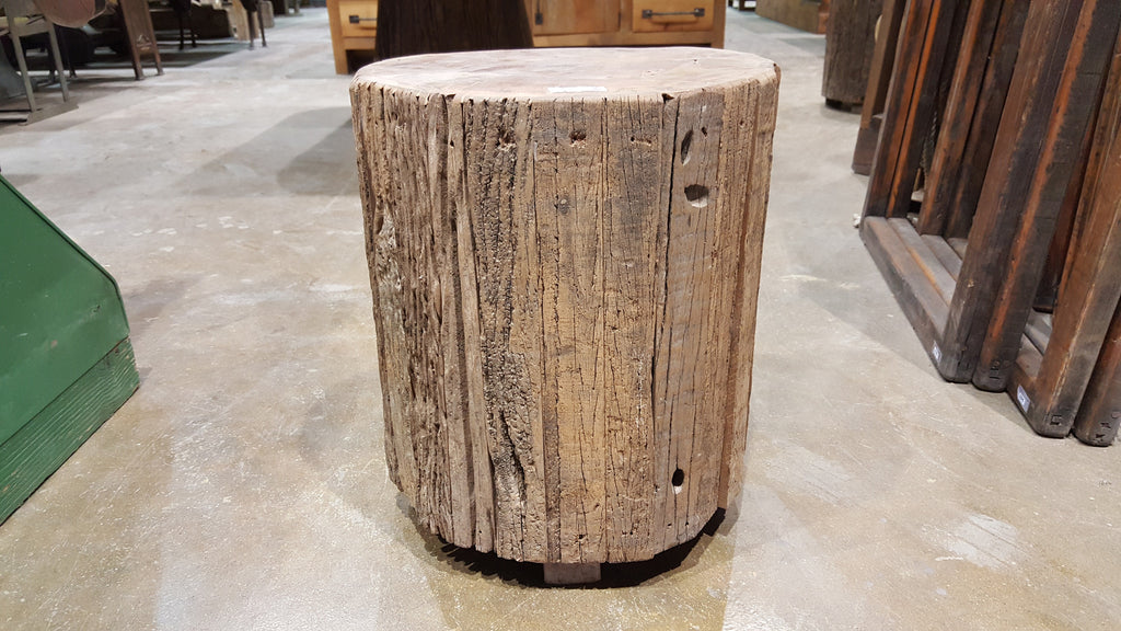Wooden Tree Trunk Style Stool