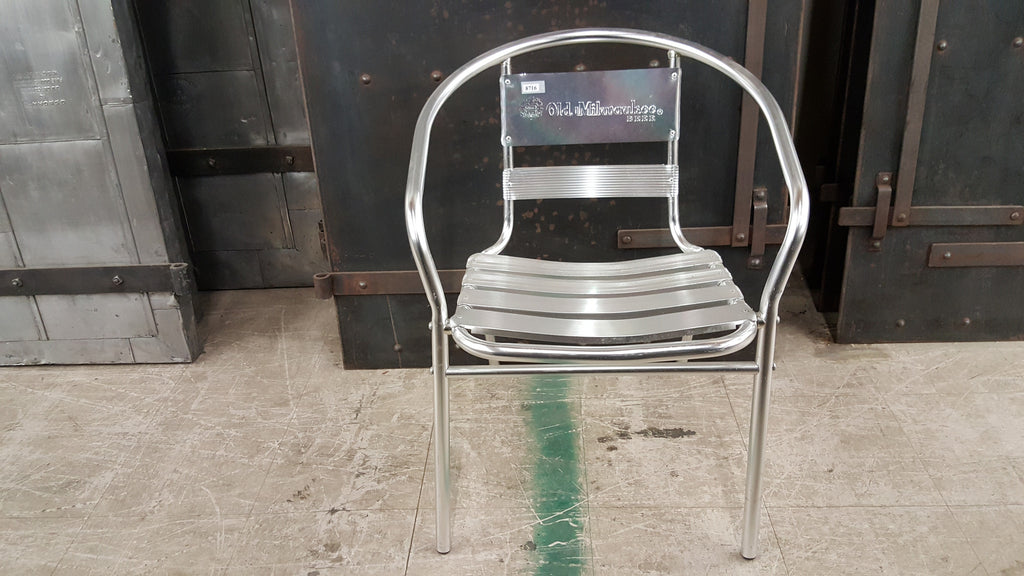 Old Miwaukee Aluminum Chair