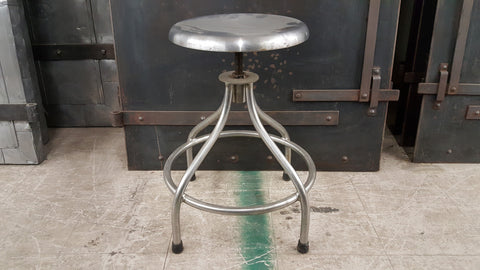 Adjustable Height Stainless Steel Stool