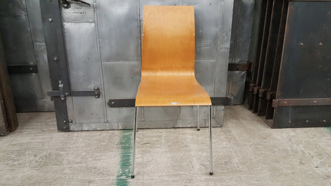 Chair, wood with metal legs