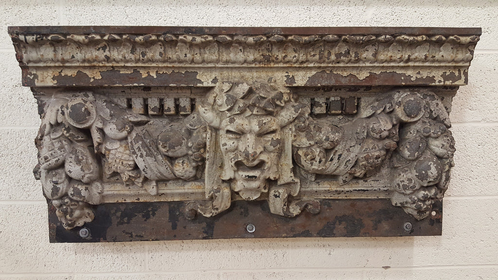 Architectural Cast Iron Bacchus Head Crown