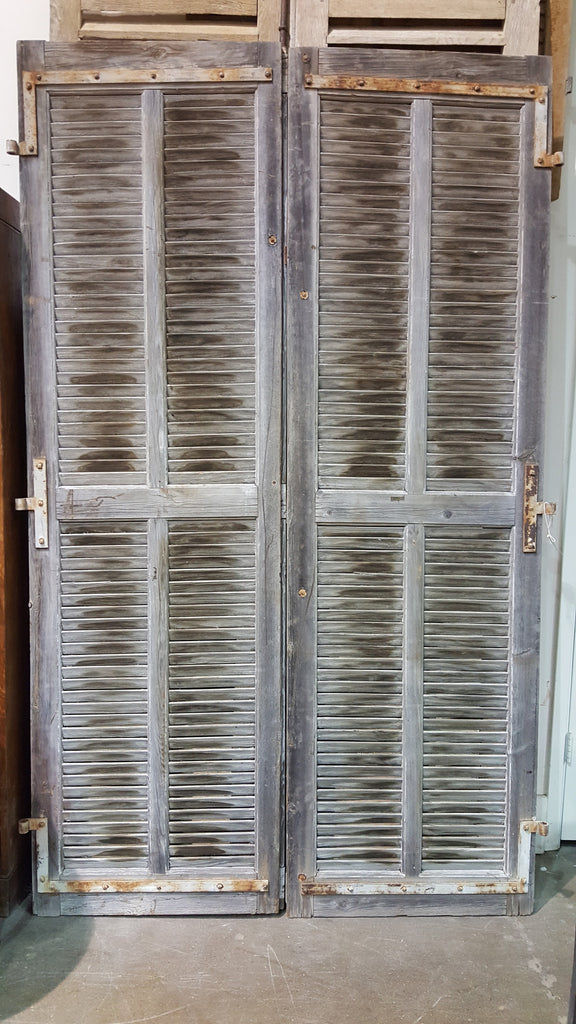 Pair of Gray Shutters