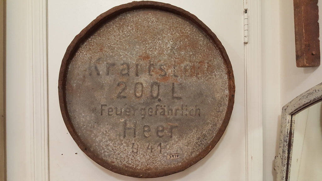 WWII German Fuel Drum Lid