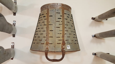 Repurposed Olive Bucket Wall Sconce