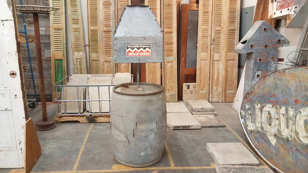 Lamp from an Oil Barrel & metal shade