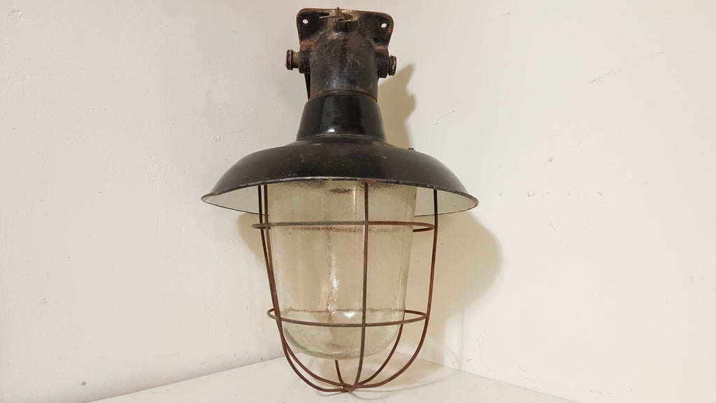 Industrial Caged Factory Light
