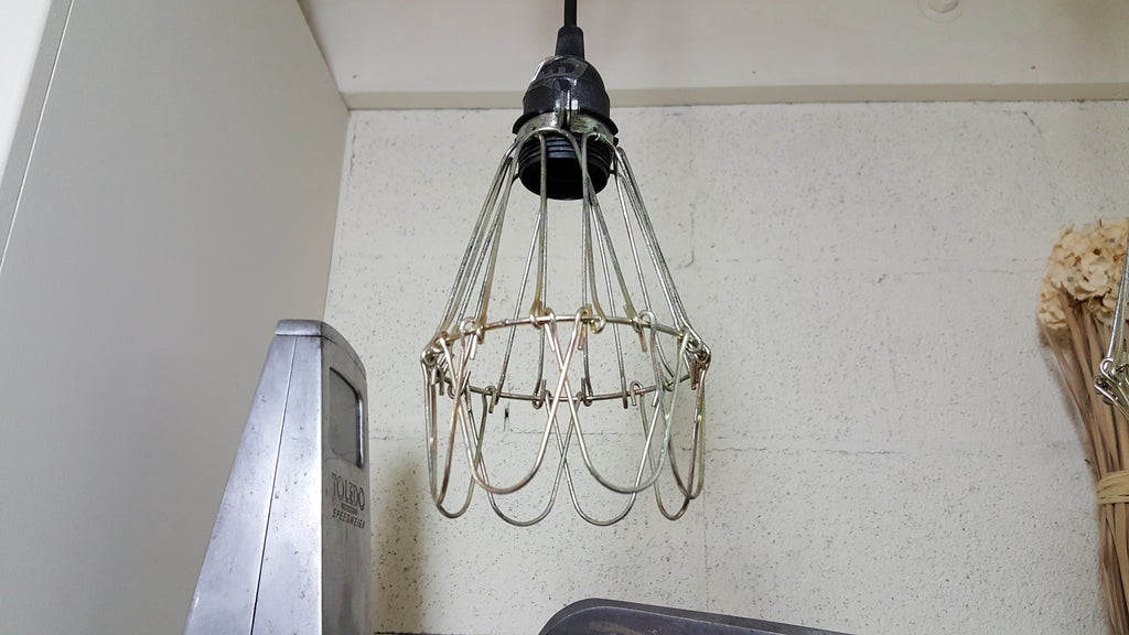 Metal Caged Pendant Light