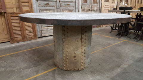 Industrial Base with Zinc Table Top