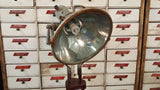 Antique Industrial Metal Spotlight