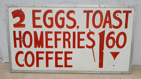 2 Eggs and Toast Sign