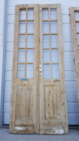 Pair of Bleached Wood French Doors