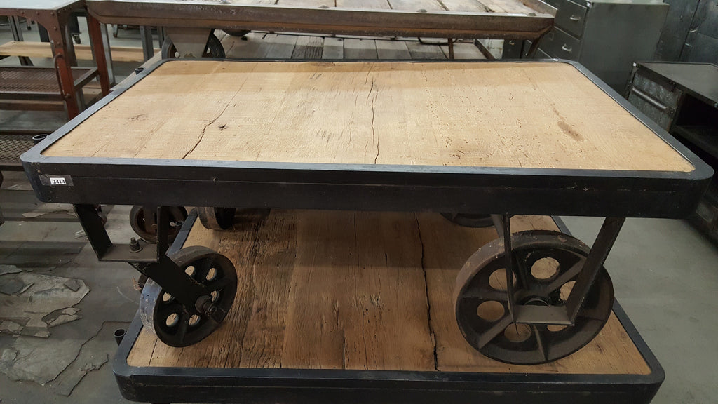 Industrial Coffee Table Trolley