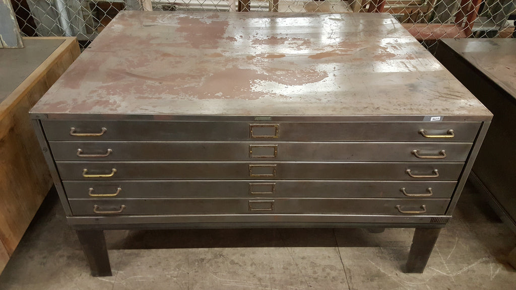Industrial 5 Drawer Filing Cabinet Coffee Table