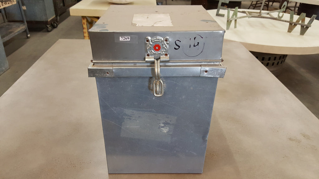 Lockable Metal Box with Hinged Lid