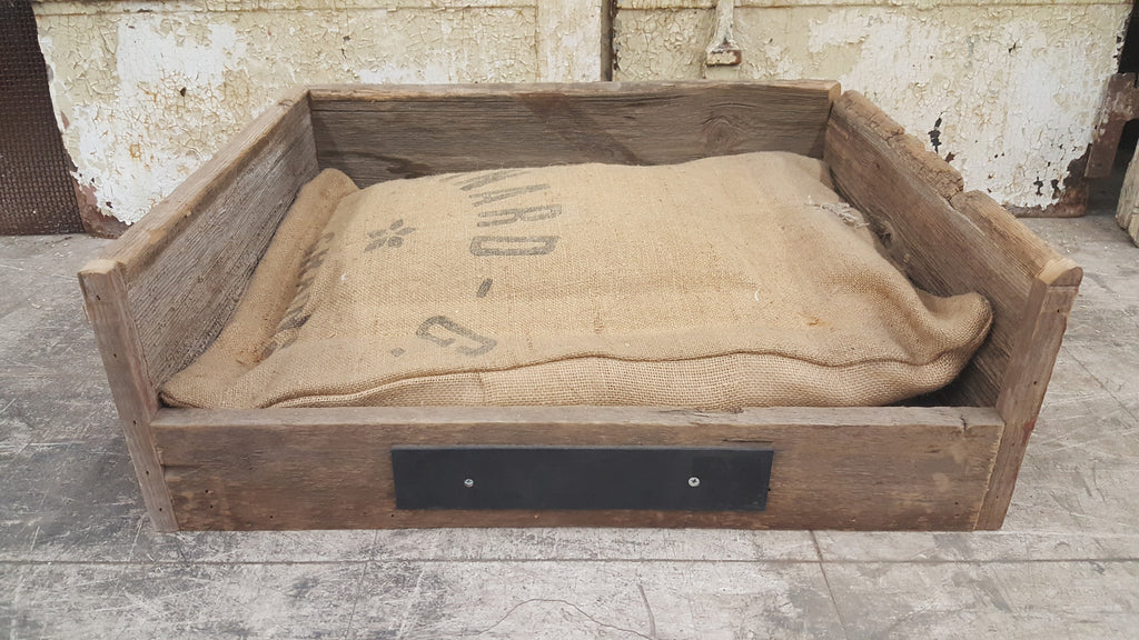 Medium Repurposed Barn Wood Pet Bed