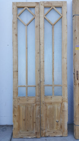 Pair of Diamond Glass French Doors