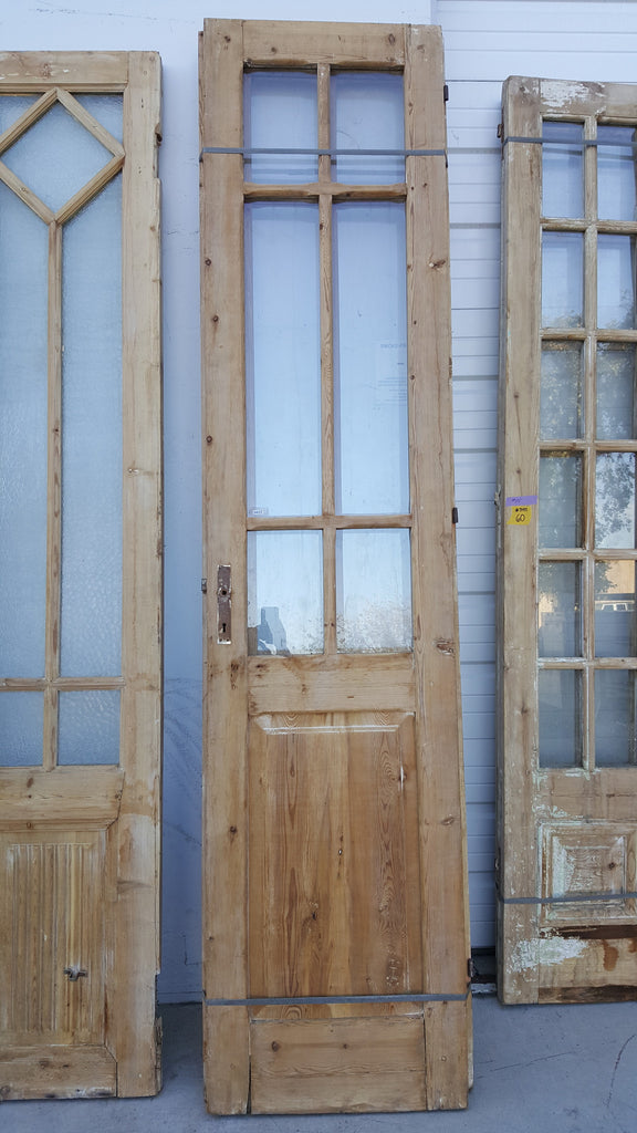 Pair Of Wooden French Doors With 6 Glass Panes Antiquities Warehouse