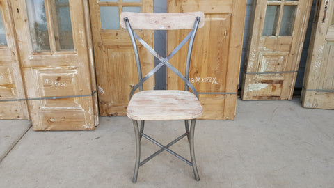 Wood and Metal Dining Chair