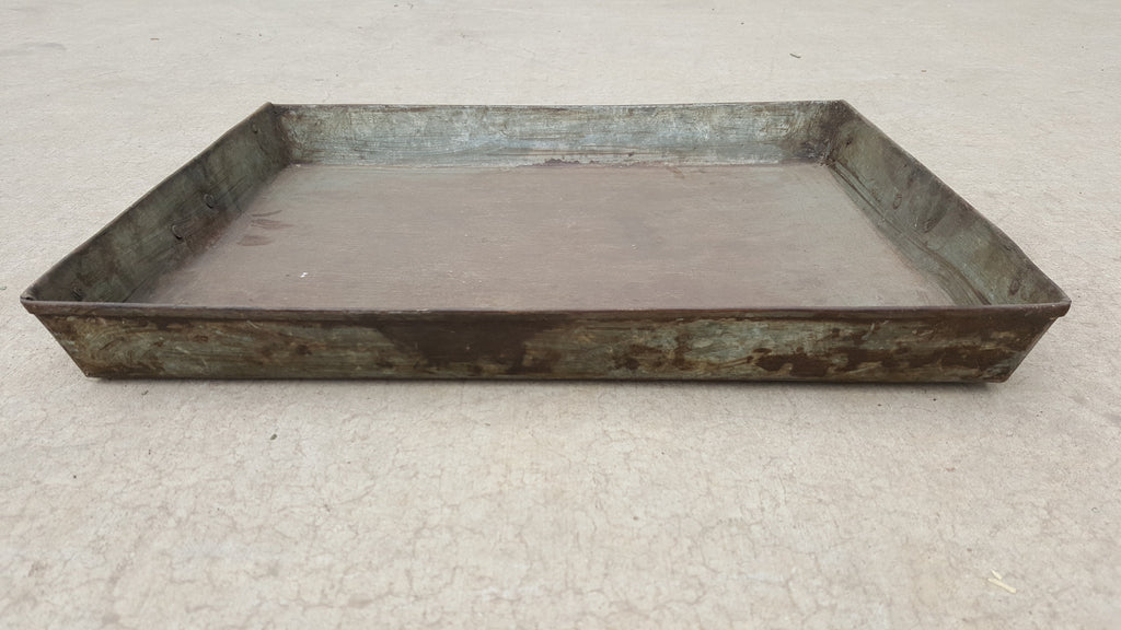 Decorative Iron Tray with Handles